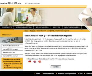 Schufa Auskunft Formular